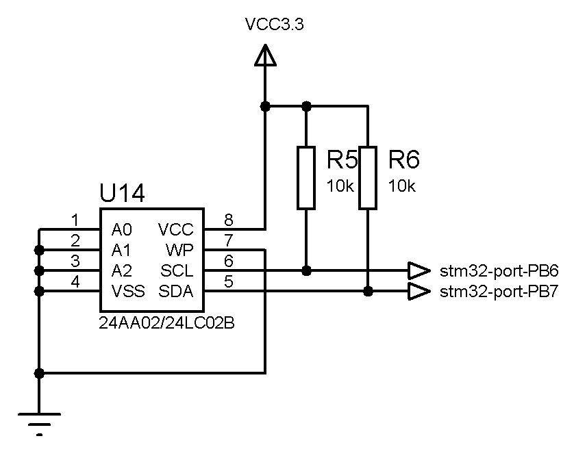 Рис.3. Схема подключенияEEPROM памяти