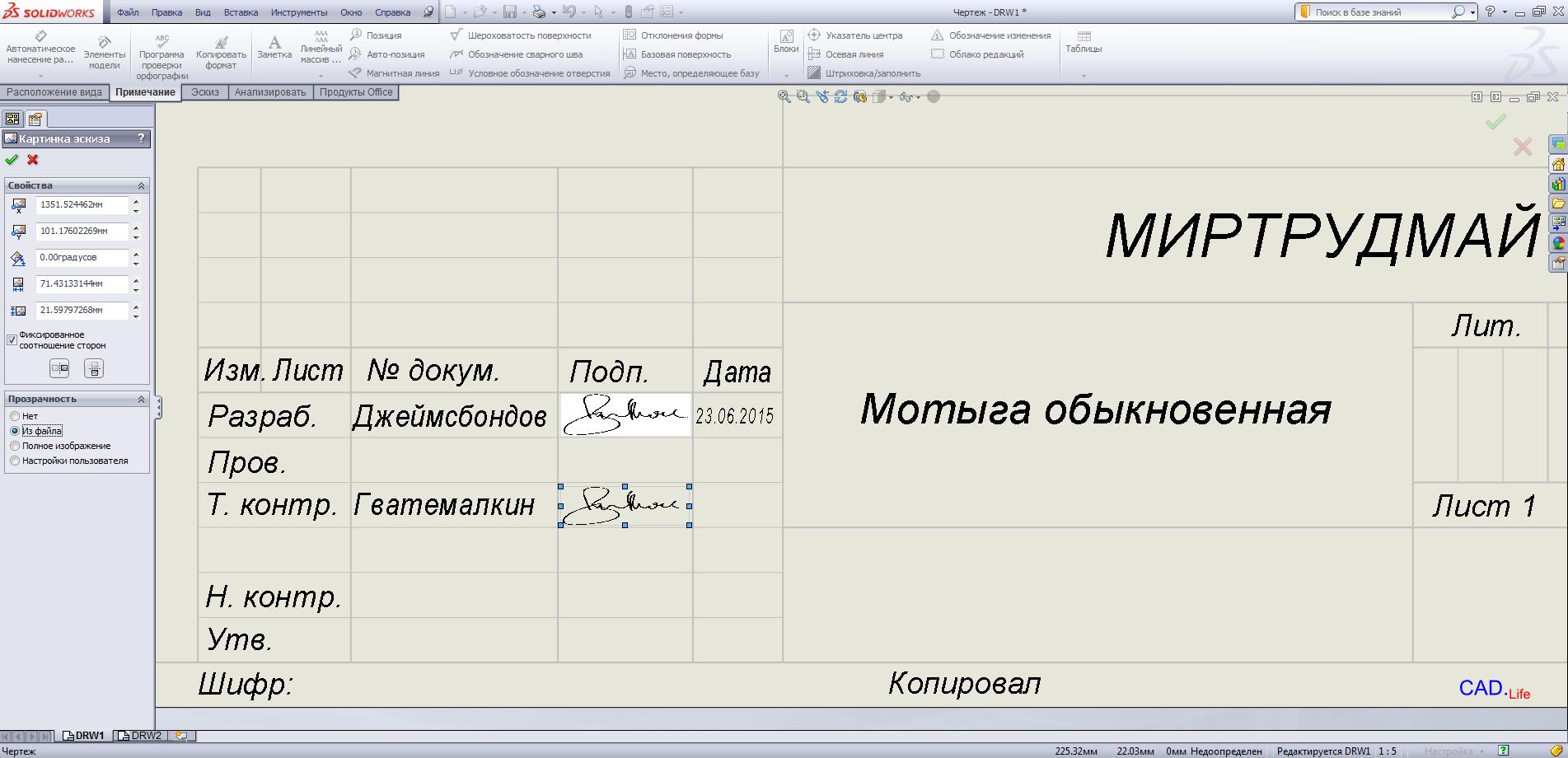 Рис.2. Настройка файла изображения в формате PNG с прозрачным фоном