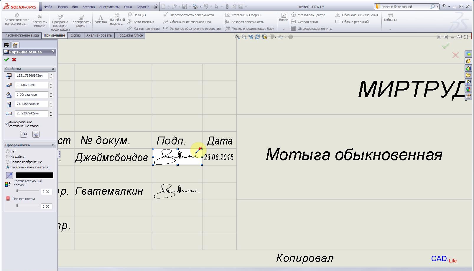 Рис.3. Настройка файла изображения в формате JPG